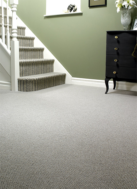 Striped Loop Pile Carpet
